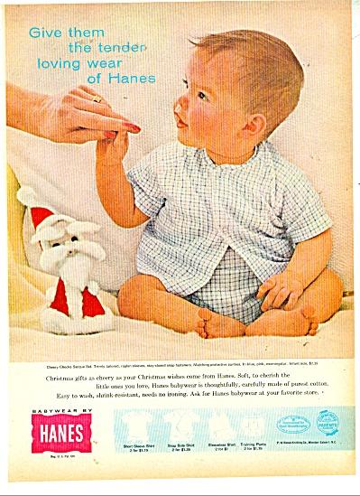 Hanes Baby babywear ad  1960 (Image1)