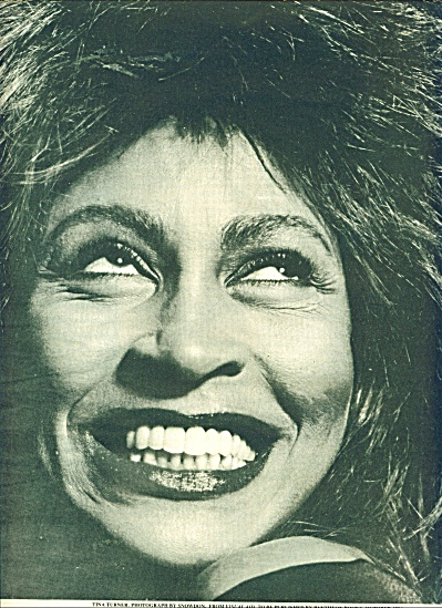 Visual aid TINA TURNER  ad -  1986 (Image1)