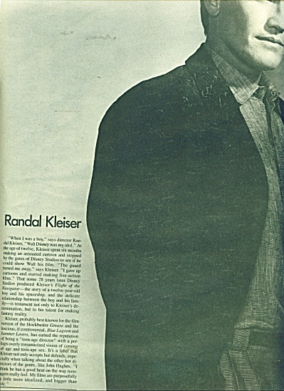 Randal Kleiser Photo ad  1986 pic Greg Gorman (Image1)