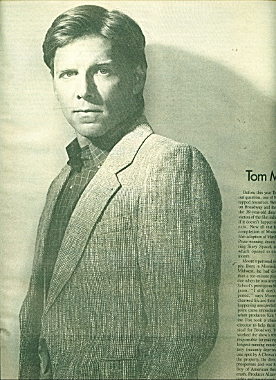 Tom Moore Photo ad - 1986 Pic by Greg Gorman (Image1)