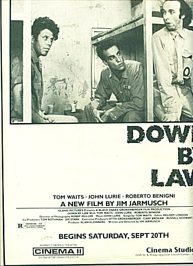 Down by Law movie ad   1986 (Image1)