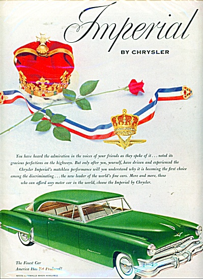 Imperial by Chrysler  ad - 1952 (Image1)