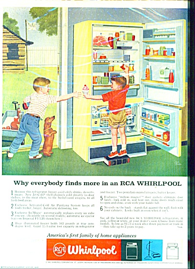 RCA Whirlpool refrigerator ad - 1959 (Image1)