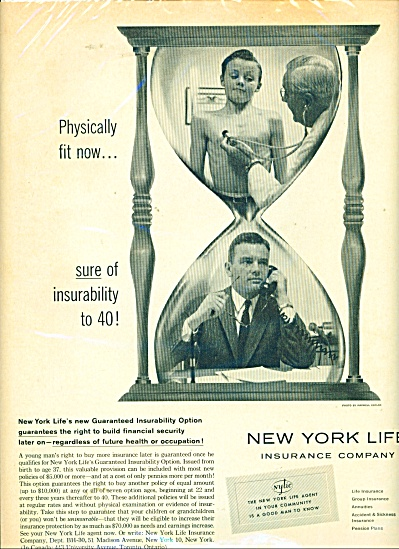 1959 New York LIFE Insurance AD Young Boy @ D (Image1)