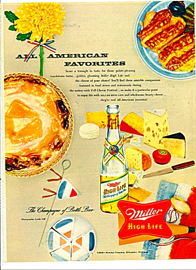 Miller High Life Ad - 1954