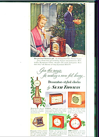 Seth Thomas Fine Clocks And Watches Ad