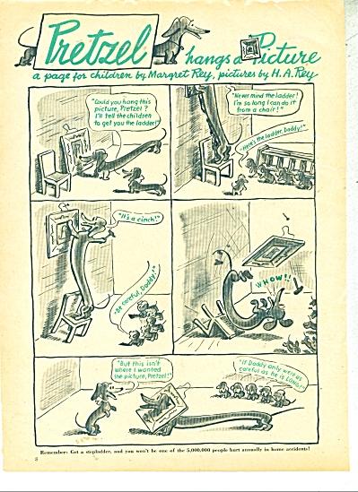 Pretzel hangs a picture ad  1946 (Image1)