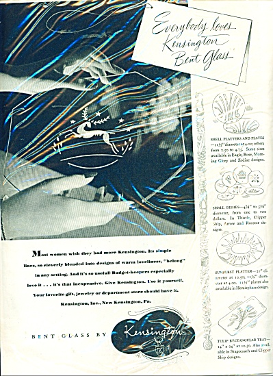 Bent Glass by Kensington ad - 1946 (Image1)