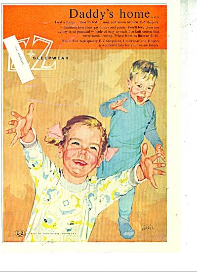 E Z sleepwear ad - 1957 (Image1)