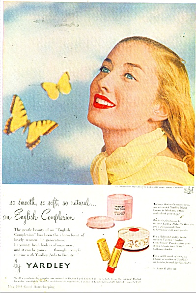 1948 Yardley  products ad   Blonde Beauty (Image1)