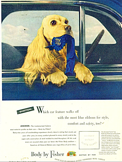 1948 FISHER BODY Cocker Spaniel 1st Class AD (Image1)