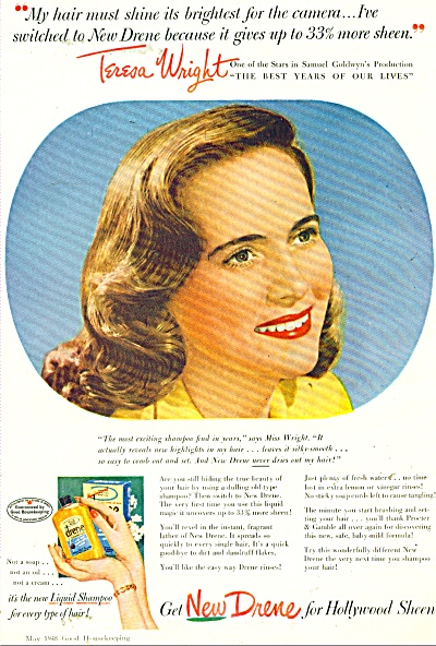 New Drene for hollywood sheen ad - 1948 (Image1)