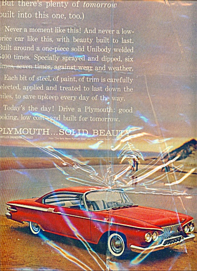 Plymouth automobile  ad  SOLID BEAUTY (Image1)