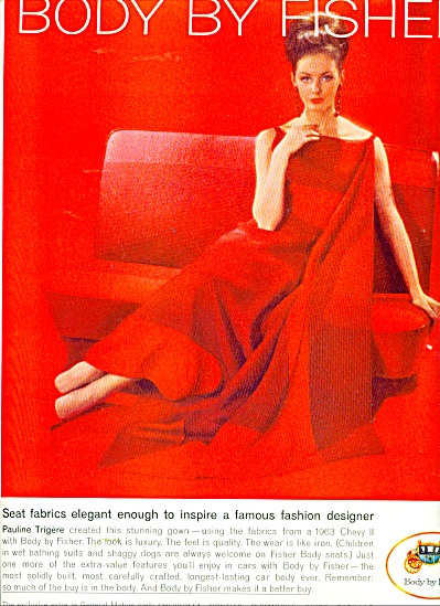 Body by Fisher ad - 1963 FASHION MODEL (Image1)
