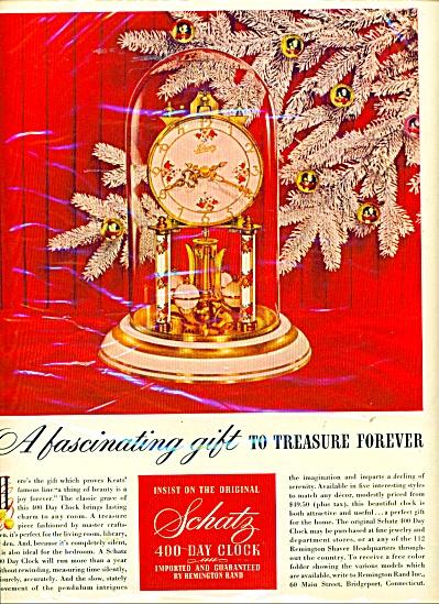 Schatz 400 day clock ad - 1952 (Image1)