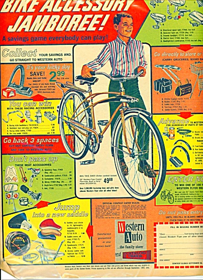 Western Auto Stores Ad 1965 Vintage Bicycle Bike Acces