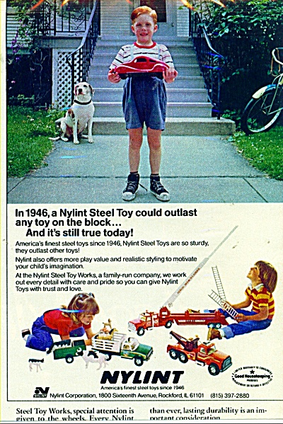 Nylint finest steel toys ad   1982 (Image1)