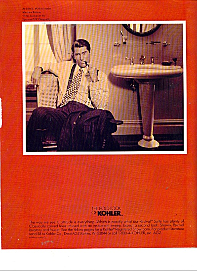 The Bold look of Kohler ad Attitude is Everything (Image1)