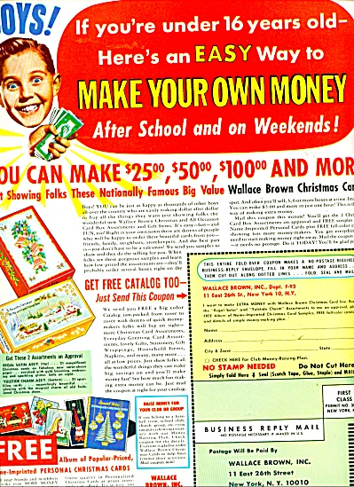 Wallace Brown Inc. money making project ad (Image1)