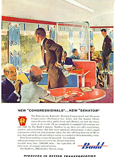 Budd - Pennsylvania Railroad TRAIN AD (Image1)