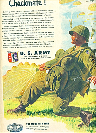 U. S Army recruiting service ad (Image1)