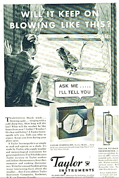 Taylor Instruments ad -  1934 (Image1)