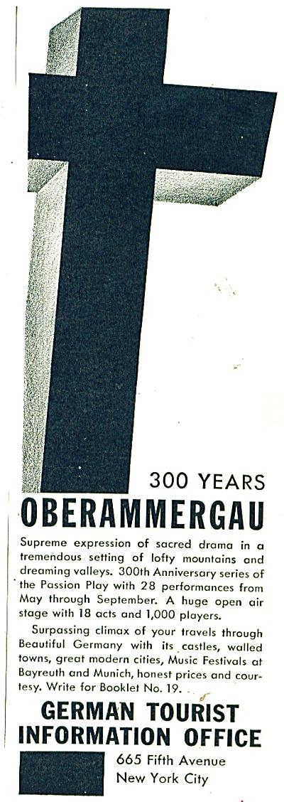 Oberammergau 300 years ad   1934 (Image1)