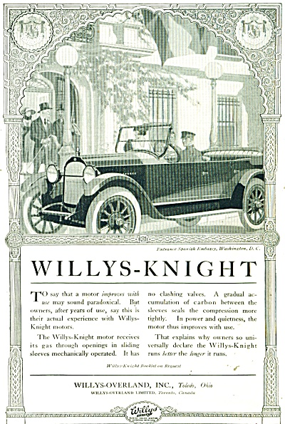 1920 s Willys Knight CAR Auto PROMO AD ART (Image1)