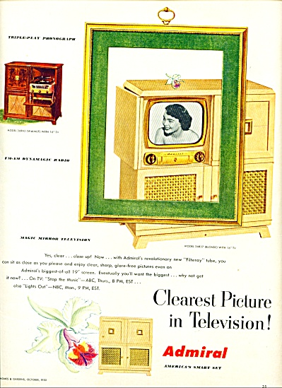 Admiral Television Ad 1950