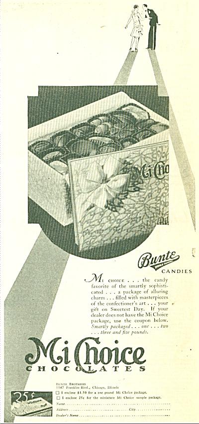 Mi  Choice chocolates ad - 1929 (Image1)