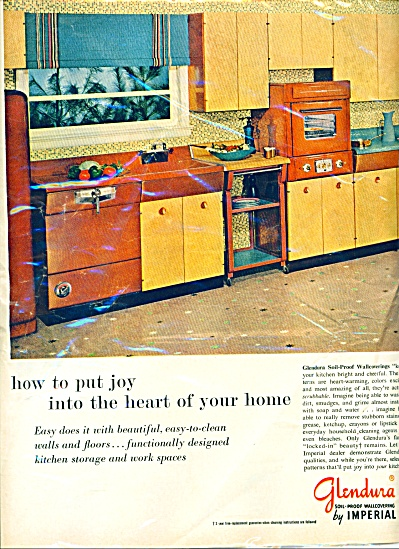 Glendura soil proof wallcovering ad  1956 (Image1)