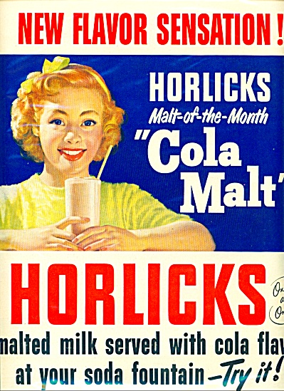 Horlick's Malt of the month ad = 1950 (Image1)