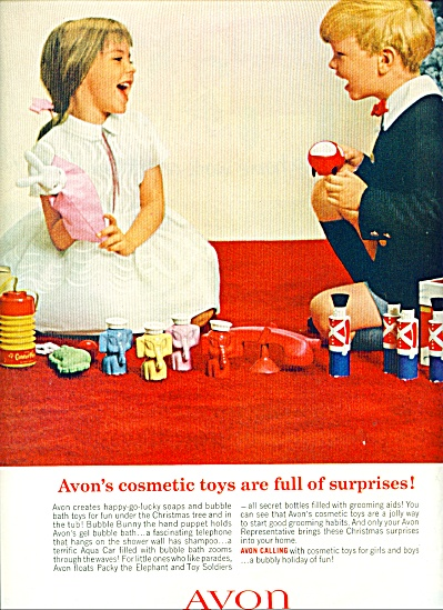 Avon Cosmetics Ad Cosmetic And Toys