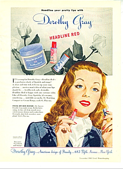 1948 DOROTHY GRAY Pretty LIPS AD (Image1)