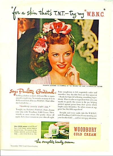 1948 Woodbury Cream AD PAULETTE GODDARD (Image1)
