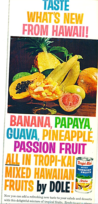 Dole mixed hawaiian fruits ad   1965 (Image1)