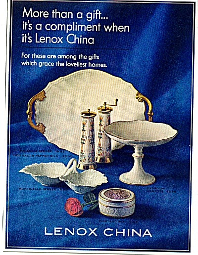 Lenox China ad    1965 (Image1)