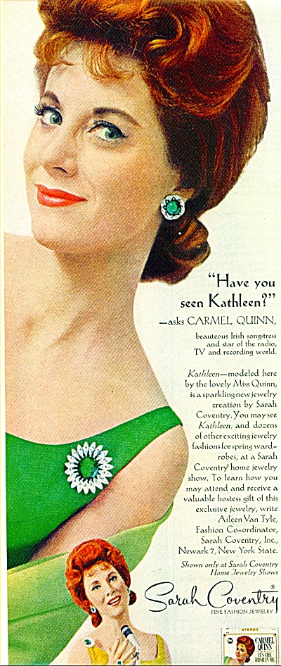 Sarah Coventry fine fashion jewelry ad  1965 (Image1)