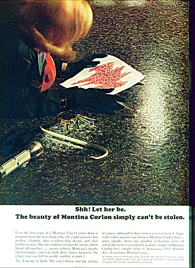 Armstrong Vinyl Floors ad   1965 LET HER BE (Image1)