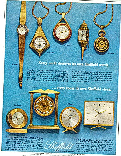 Sheffield clocks and watches ad  1965 (Image1)