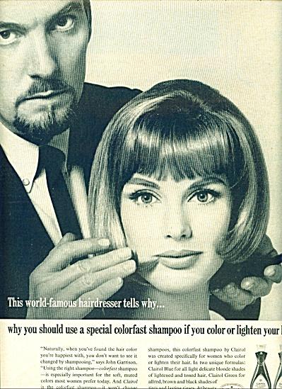 1965 CLAIROL Shampoo AD Model w/ John Garriso (Image1)