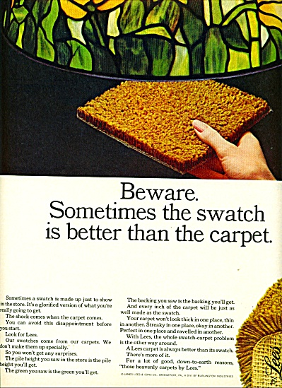 Lees Carpets Ad - 1965 Glorified Version