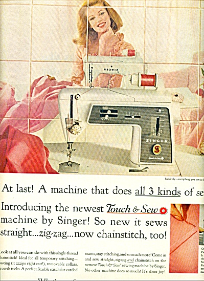 Singer Sewing Machine Touch N Sew Ad