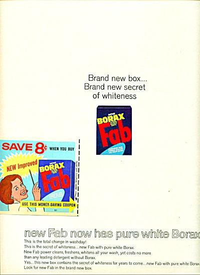 Borax FAB soap ad - 1965 (Image1)