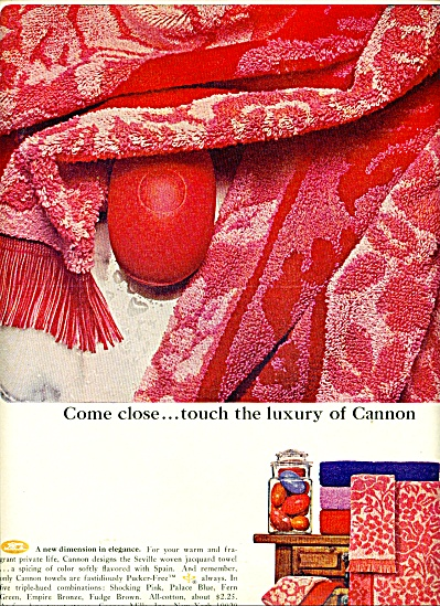 Cannon towels ad   1965 (Image1)