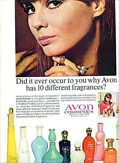 1966 Avon SANDY HILTON Model Cosmetics AD (Image1)