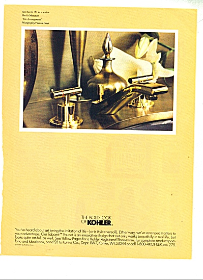 The bold look of Kohler ad  1989 MERZNER (Image1)