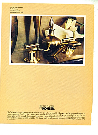 The Bold look of Kohler ad. Sheila Merzner (Image1)
