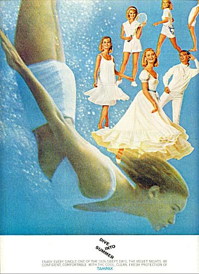 1965 Tampax MODEL RENATA BECK AD (Image1)