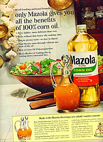 Mazola       pure corn oil ad   1965 (Image1)